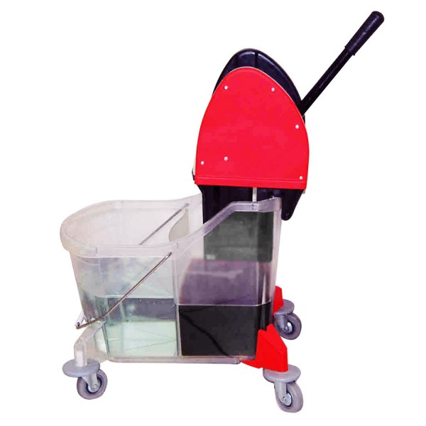 Split Spray Floor Mop: Dual-Cavity Bucket / Downpress Wringer Mopping System